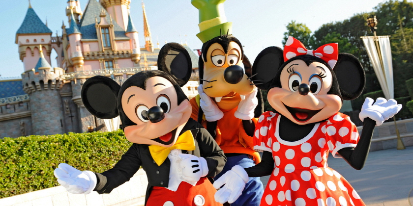 가족과 함께 디즈니랜드 여행