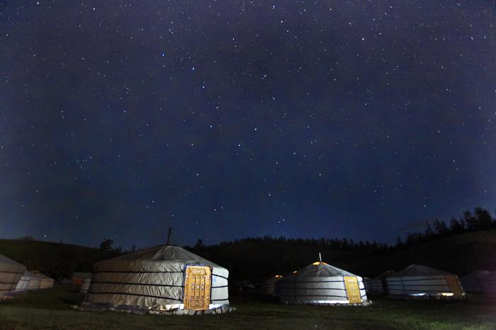 몽골에서 별사진 찍기