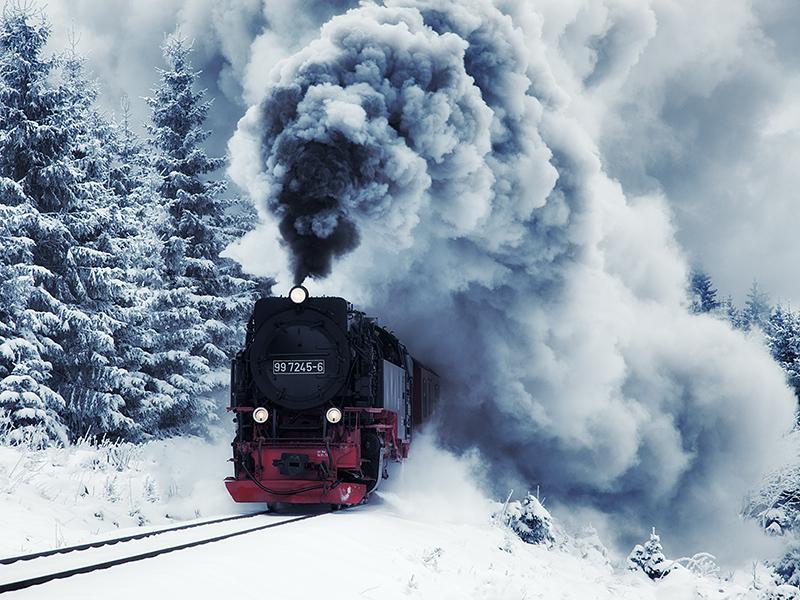 독일 브로켄 산을 오르는 증기기관차 타기