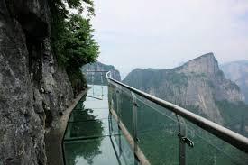 중국 장가계 유리잔도, 귀곡잔도에서 걷기