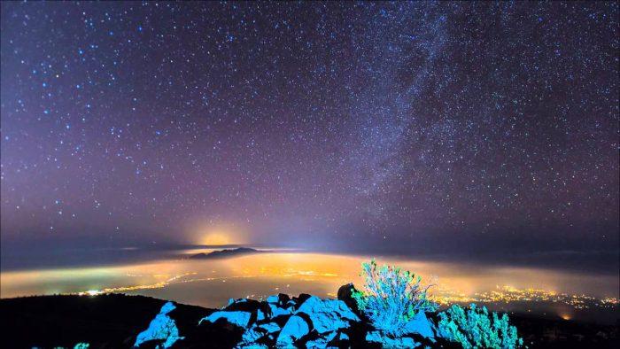 하와이 할레아칼라에서 별사진 찍기